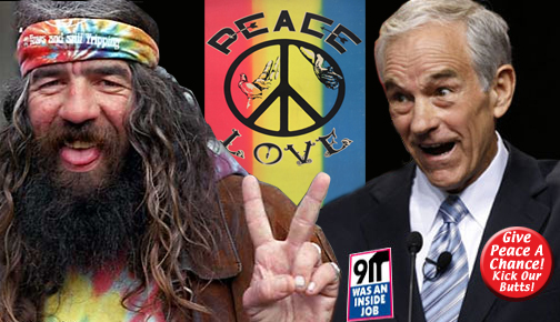 pacifism cowardace world join hands sing kumbayah flashback 60s ron paul peace hippie