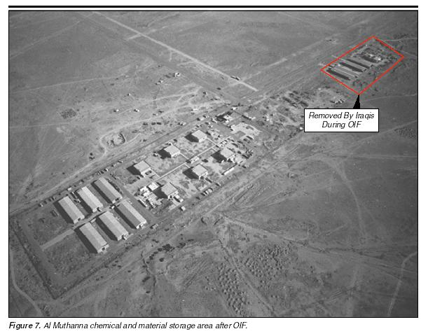 Hmmm, what could Saddam have stored here then removed just before the US invaded, and where is it now?
