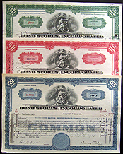 Bearer Bonds - counterfeit