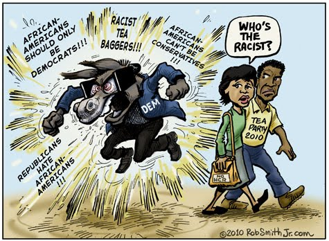Racist cartoon hustler