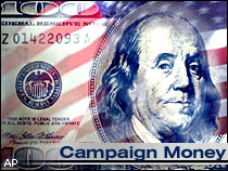 Campaign money dollars