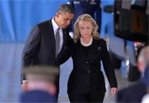 Obama And Clinton Support Each Other As The Bodies Of Americans Return HomeAnd They Rehearse Their Lies
