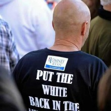 Racist Romney/Ryan supporter in Lancaster, Ohio?