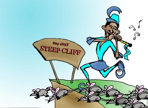The gallery for --> Obama Lemmings Jumping Off A Cliff Obama Lemmings Jumping Off A Cliff