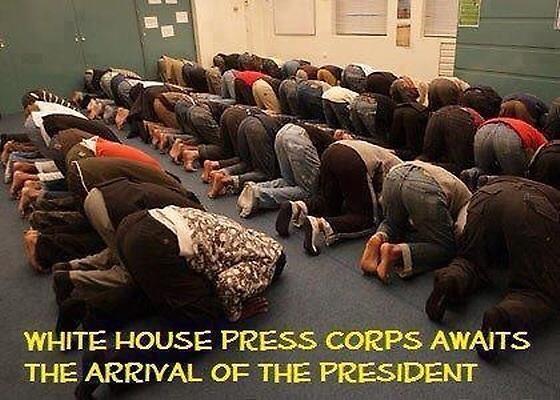 press corps bows