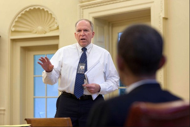 "May 3, 2010   Chief counterterrorism adviser John O. Brennan delivers one of several briefings that President Obama received on an attempted Times Square car bombing in May 2010. In the administration&#039;s counterterrorism efforts, it is Brennan who shapes recommendations on ""kill"" lists and the allocation of armed drones, the war's signature weapon.  Pete Souza / The White House[/caption]  President Bush had the <a href="