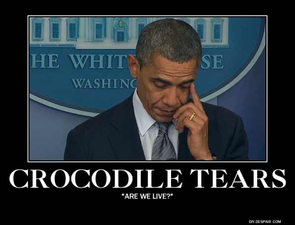 obama crocodile tears