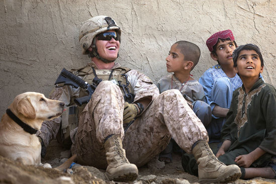 marine-with-local-afghan-children