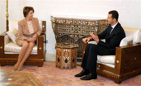 assad and pelosi