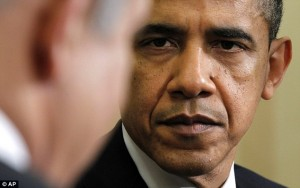 Obama Glaring at Netanyahu