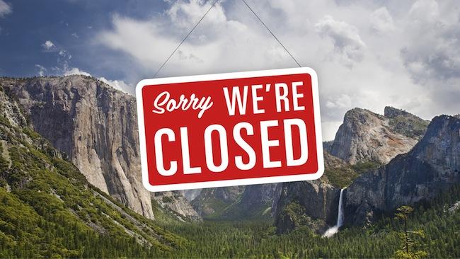 government shutdown parks