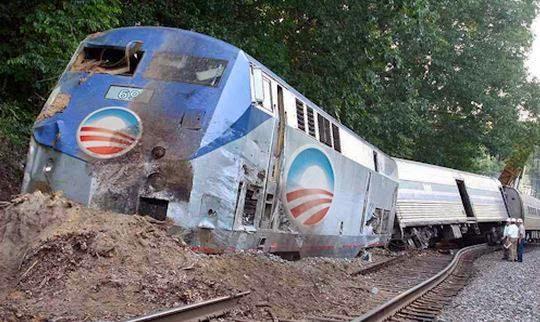 Obama Train Wreak