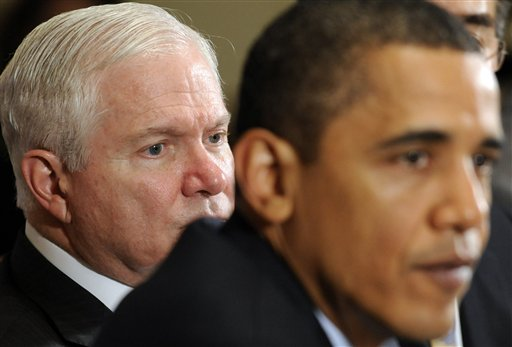 Barack Obama, Robert Gates,