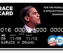 Sinking, Obama plays the race card