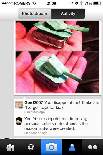 tanks for the peace of paper