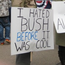 """We did not treat President Bush this way."" [/wtf]"