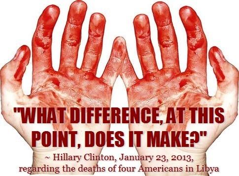 hillary blood hands
