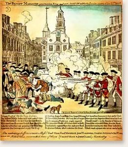 Paul Revere's Engraving of the Massacre has been replaced by the cell phone and text messaging