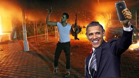 obama benghazi selfie