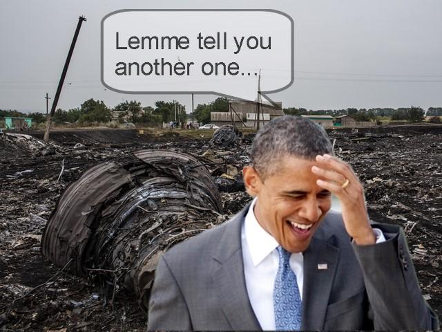 obama crash laugh