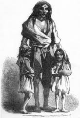 An Irish Woman and Children, Her Husband Has Been Kidnapped and Sold Into Slavery