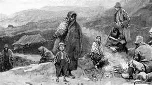 Irish Homelessness was a reason to be sold into slavery