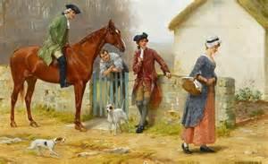 English aristocrats judge the livestock