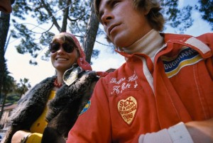 James Hunt 1975 Monaco with his Sex is a high performance thing patch