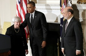 Janet Yellen, Obama, and Bernanke