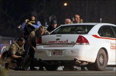 police shot a
