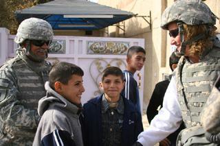 Debbie Lee in Iraq