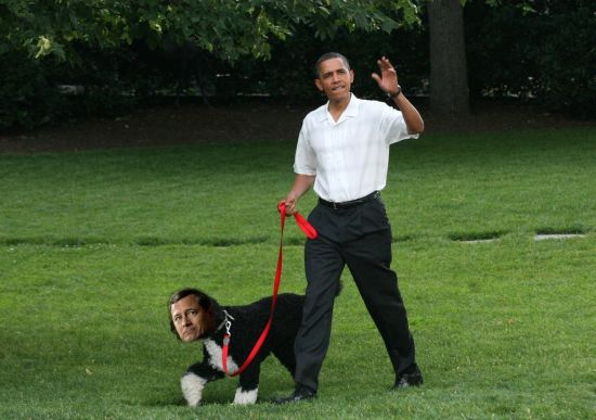 obama walks roberts