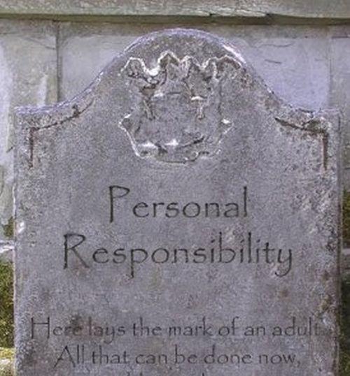 personal responsibilty tombstone