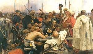 Cossacks writing an insulting note to a defeated sultan