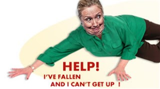 hillary fallen and cant get up