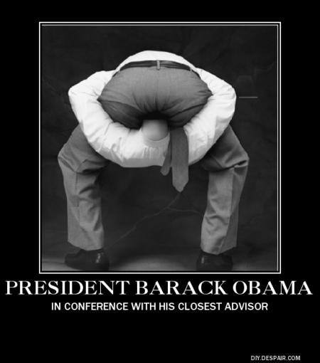 obama head up ass