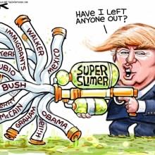 Trump crosses the line - Updated