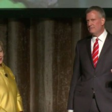 "Hillary and Mayor Bill De Blasio share ""colored people time"""