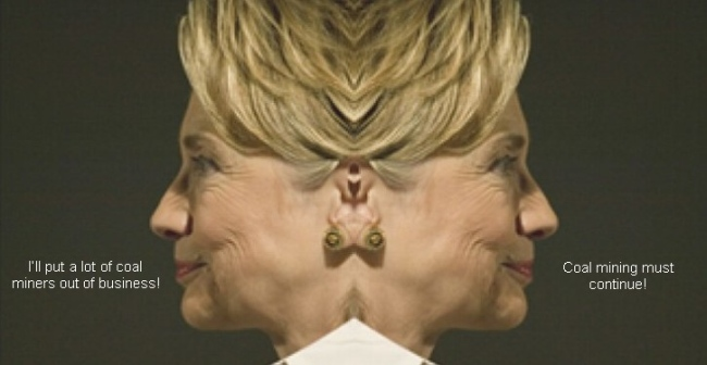 hillary two faced