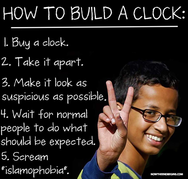 ahmed fake clock