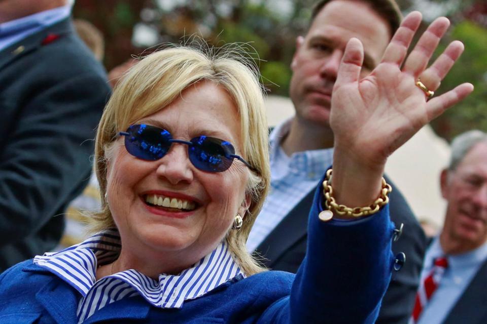 Hillary Wearing Anti-Seizure Glasses.