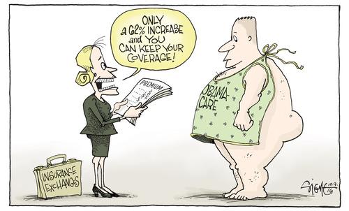 Signe cartoon SIGN09e Obamacare