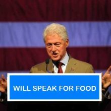 I wonder what Bill Clinton's speaking fee is currently?