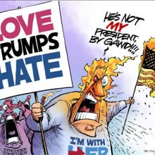 There is great irony in the sheer hate from those who whine about Trump being hateful.
