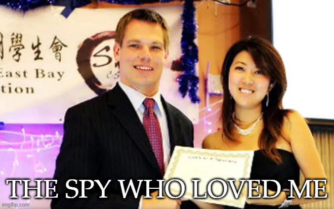 Eric Swalwell is a Chinese agent